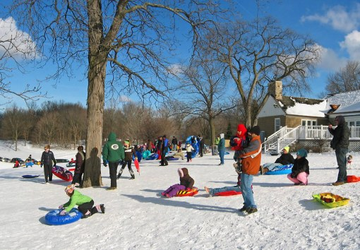 This is one of the most popular places to sled in the Milwaukee, Wisconsin area