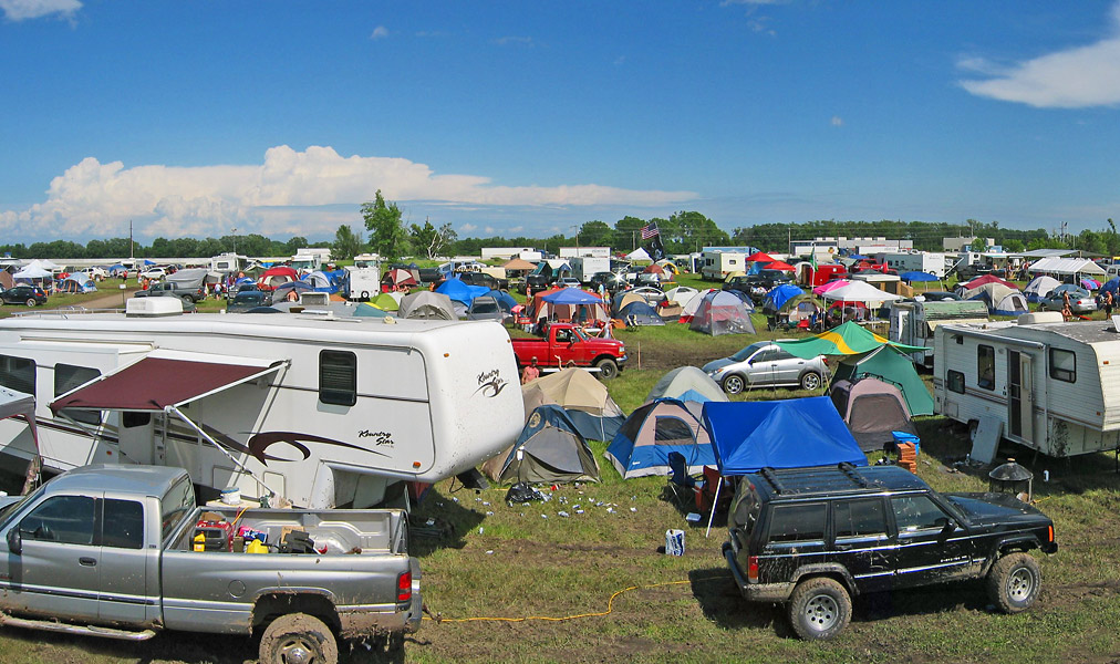Panoramic Scenes Of Country Usa Music Festival Camping At Oshkosh