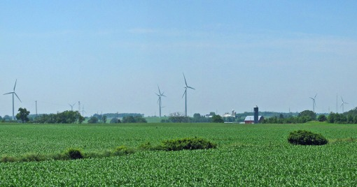 Wisconsin is home to over 600 MW of wind power generated electricity of which Forward Wind Energy Center is 129 MW.