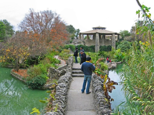 The Japanese Tea Garden dates back to an 1880's quarry used by San Antonio city stone cutters.