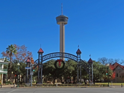 The Tower of the Americas is located in Hemisfair Park in San Antonio, Texas