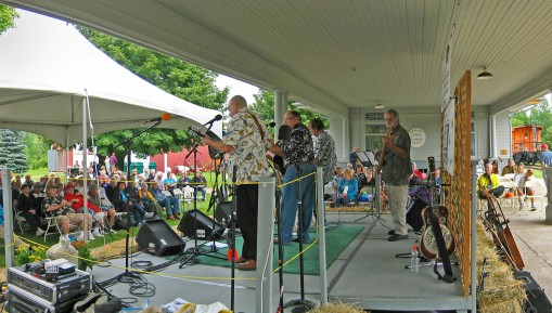 An afternoon of Bluegrass at the Ozaukee County Pioneer Village and the historic Cedarburg Depot