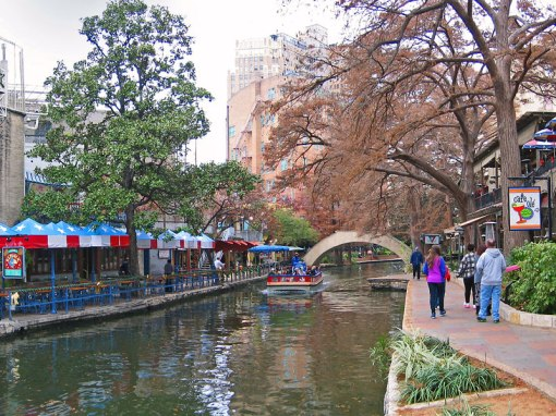 Restaurants and river taxis are opening  for another day on the San Antonio River Walk