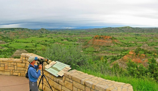 A view of the Painted Canyon at Theodore Roosevelt  National Park near Medora, North Dakota.