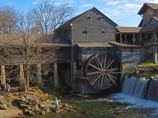 The Old Mill is the only structure in Pigeon Forge, Tennessee listed on the National Register of Historic Places