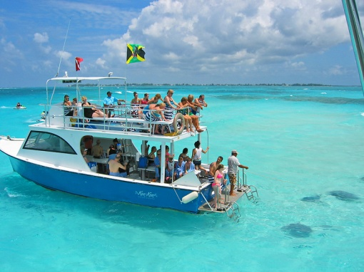 The Stingray experience was at a sandbar near Rum Port Channel on Grand Cayman Island