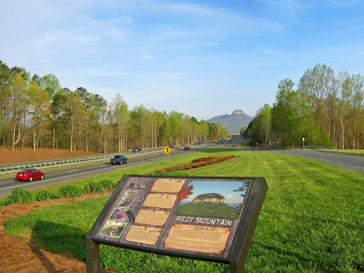 Pilot Mountain is one of the most distinctive natural features in the state of North Carolina.