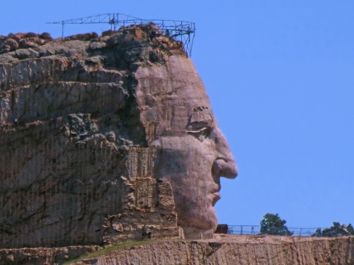 Crazy Horse Memorial, located in the Black Hills of South Dakota, is the world's largest carving in progress.