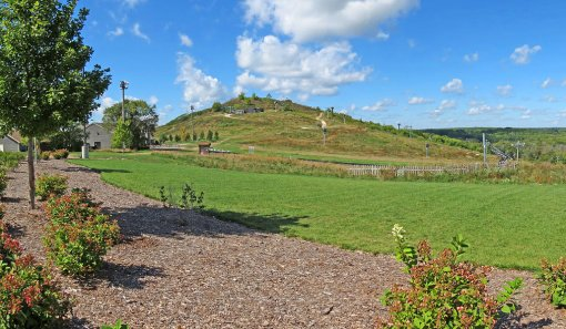 This is a view of the Crystal Ridge Ski Hill in Franklin, Wisconsin.
