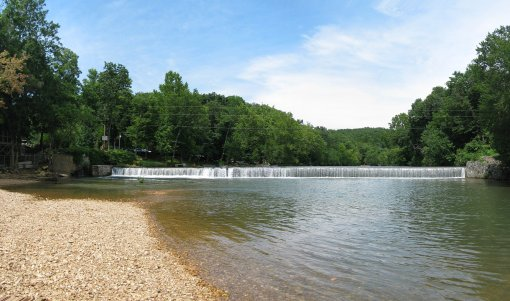 The Lindenlure Swimming Hole is located at the Finley River Falls of Lindenlure Lake on Hwy 125 near Sparta, Missouri