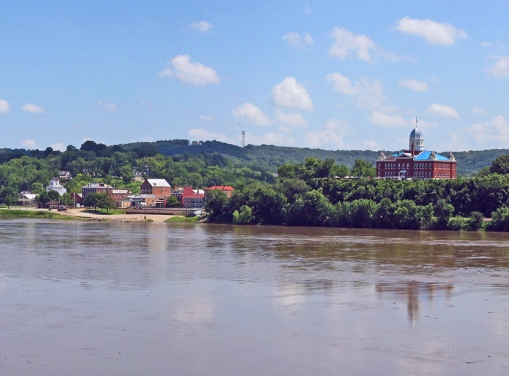 Hermann, Missouri is located on the banks of the Missouri River