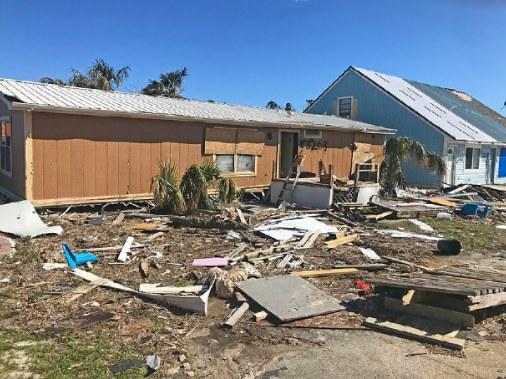 House yard damage to move