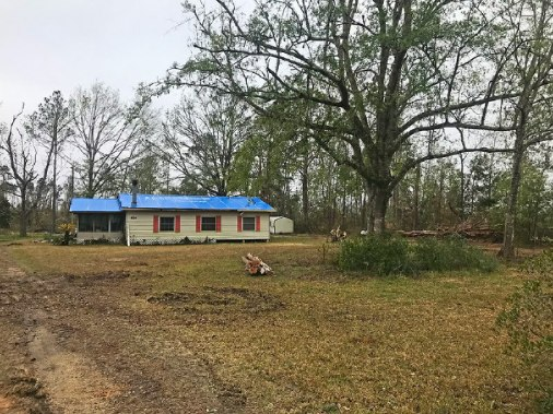 Another home after damage removed