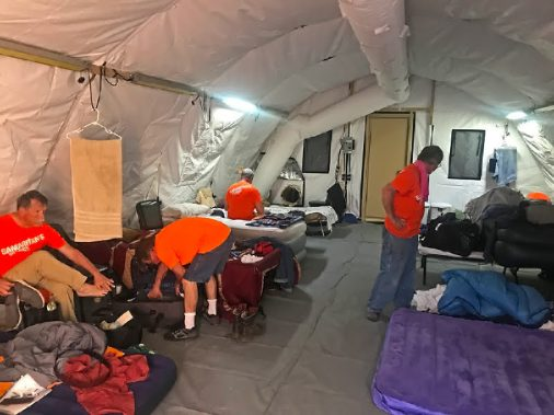 The men's sleeping quarters
